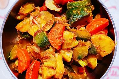 南瓜胡萝卜土豆素炖