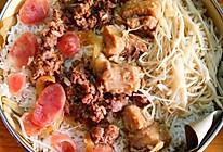 竹笼饭(蒜香排骨+沙茶牛肉)的做法