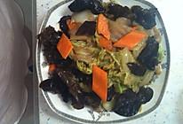 黑白菜(木耳炒白菜)的做法
