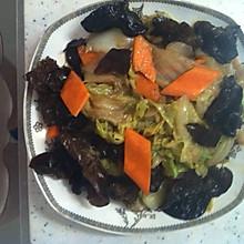 黑白菜(木耳炒白菜)
