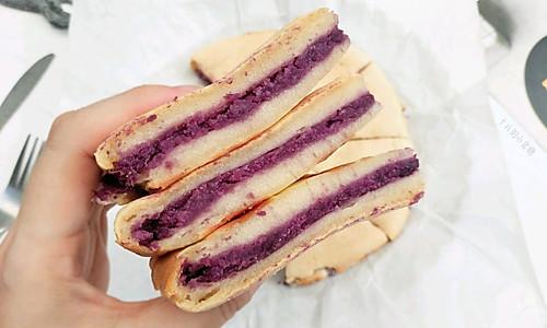 #入秋滋补正当时#紫薯夹心烤年糕的做法
