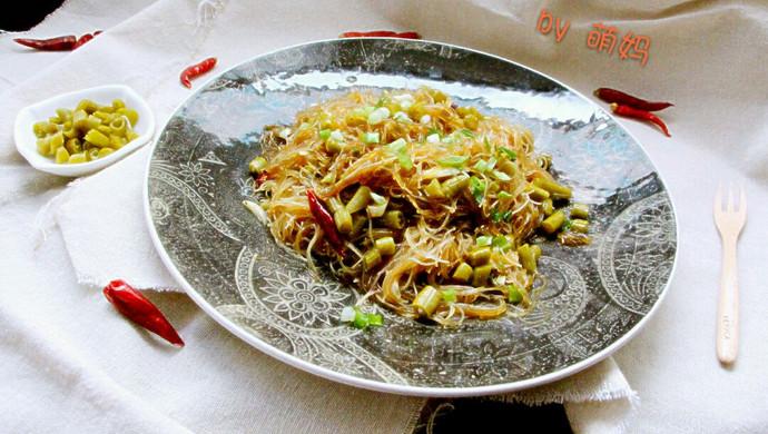 米饭杀手~酸豆角炒粉丝