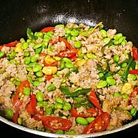 家常菜-辣椒毛豆炒肉沫的做法图解9