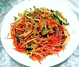 凉拌黄瓜胡萝卜丝的做法