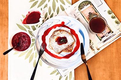 蔓越莓是圣诞的颜色: 自制蔓越莓酱法国吐司