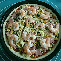 鲜虾火腿披萨的做法图解11