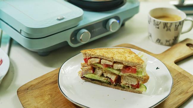 照烧鸡肉三明治的做法