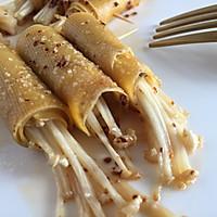 #一人一道拿手菜#烤金针菇卷的做法图解12