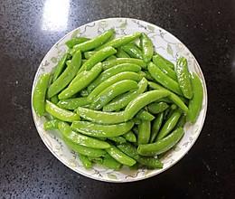 清炒甜豆的做法