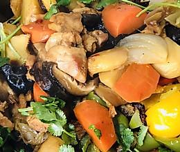 大盘鸡拌面的做法
