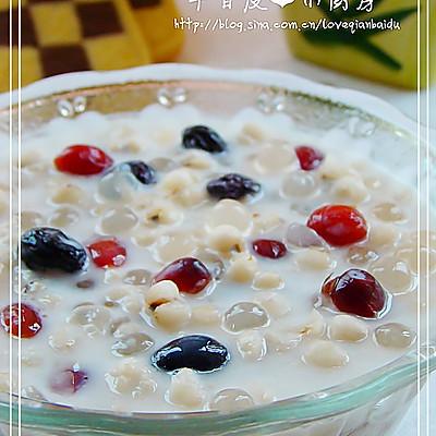 果味牛奶薏仁西米露