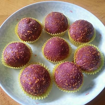 香蕉紫薯球