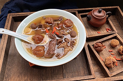 猪心荔枝炖汤