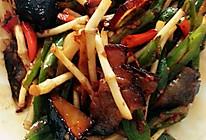 青椒鱼腥草炒腊肉的做法