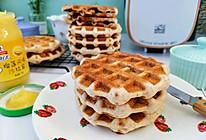 简单易做的发酵版全麦紫米华夫饼的做法