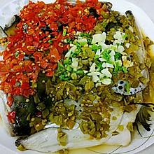 剁椒鱼头(双色三文鱼头)