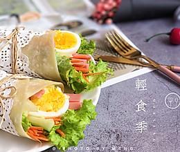 低卡轻食丨时蔬卷饼【万能饼胚做法】#人人能开小吃店#的做法