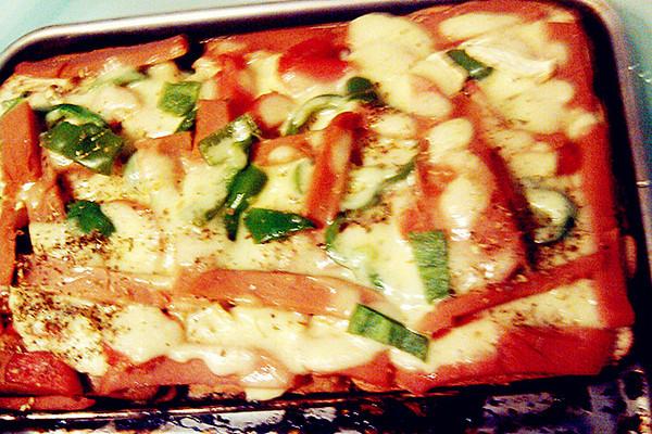 面包披萨的做法