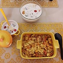 虾仁芝士焗饭