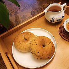 红茶牛奶贝果