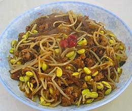下饭的黄豆芽炒粉丝的做法