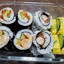 正反卷寿司(肉松、蟹棒)+玉子烧(厚蛋烧)初学者