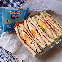 火腿芝士蛋三明治#百吉福食尚达人#的做法图解12
