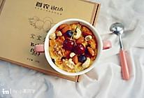 快手早餐   坚果蛋奶面包布丁—首农Helo宝宝蛋试用的做法