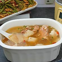 五花肉豆角蒸面条之筒骨萝卜汤做法