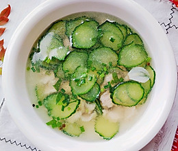 #入秋滋补正当时#清淡为主的黄瓜肉片汤的做法