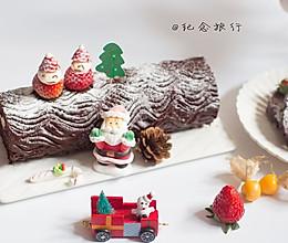 入口即化的美味可可海绵树桩蛋糕#圣诞烘趴 为爱起烘#的做法