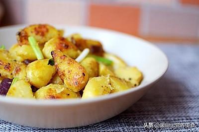 葱香慢煎土豆(主食菜品)/不需要一滴滴水,谁吃谁上瘾