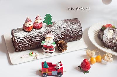 入口即化的美味可可海绵树桩蛋糕#圣诞烘趴 为爱起烘#