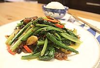 【发酵食堂】豆豉鲮鱼炒油麦的做法