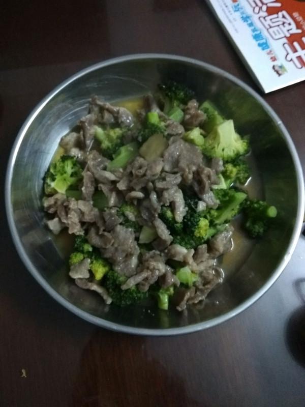 猪肉捞菜花的做法