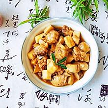 鸡腿炒蚝油菇