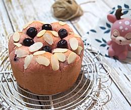 #美食新势力# 一次发酵爆浆蓝莓全麦面包的做法