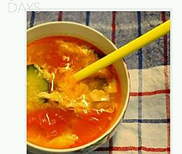 西红柿鸡蛋汤粉的做法