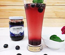 蓝莓苏打水的做法