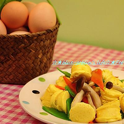 ☆★蓝冰滢的厨房汇——自己在家做玉子豆腐 五色蛋肠☆★