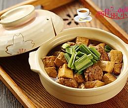 豆腐炖肉丸的做法