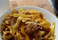 菠萝蜜丝香炒肉的做法