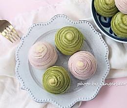 #520,美食撩动TA的心!#紫薯酥&抹茶酥的做法