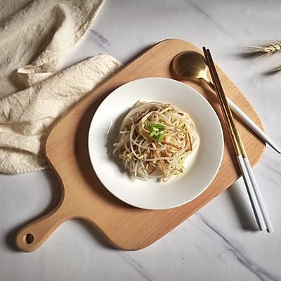 凉拌豆芽金针菇(附万能调味汁)