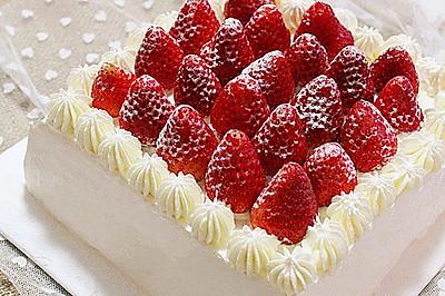 草莓奶油蛋糕#九阳烘焙剧场#