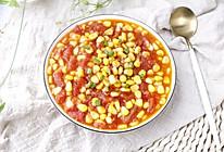 番茄玉米粒的做法