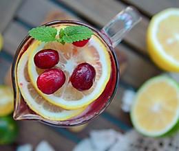 低卡健康蔓越莓青柠冰饮的做法