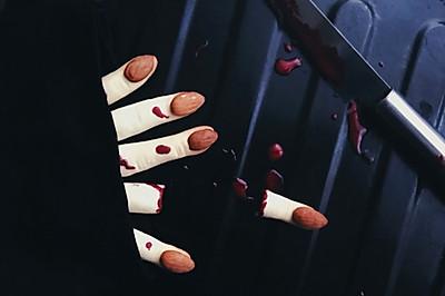 万圣节女巫手指饼干