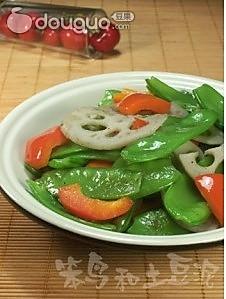荷兰豆炒藕片的做法