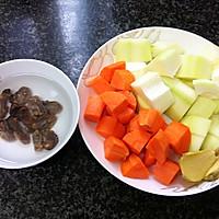猪尾骨蚝干木瓜汤的做法图解2